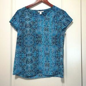 Dana Buchman blue blouse